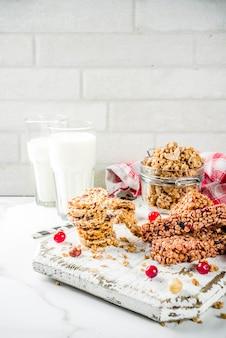 Barra de muesli de granola de cereales