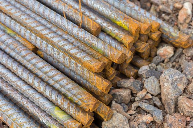 Barras de acero usadas en construcción, barras de acero