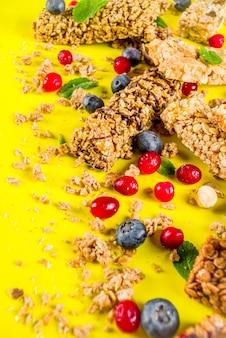Barras de granola de cereales