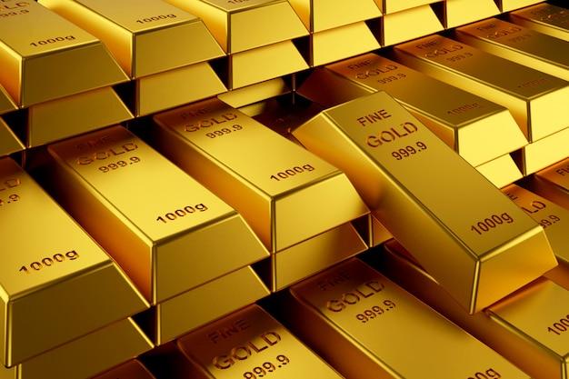 Barras de oro para el banner del sitio web.