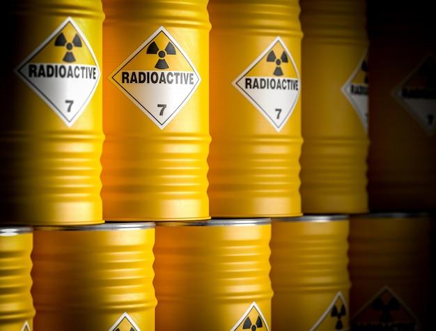 Barril amarillo radiactivo
