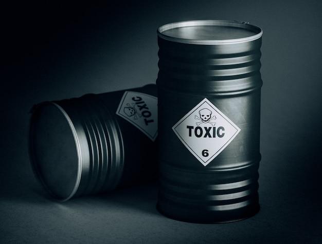 Barril toxico 3d