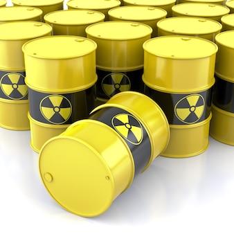 Barriles nucleares, representación de formas tridimensionales