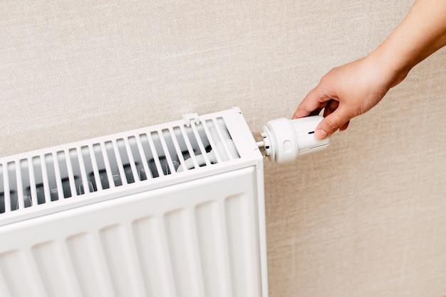 La batería o sistema de calefacción en el apartamento.