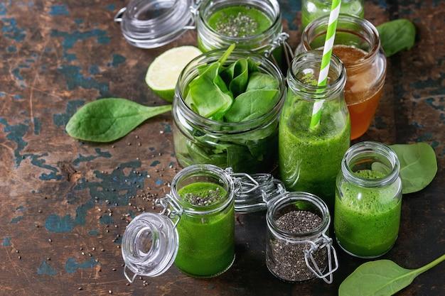 Batido de espinacas verde