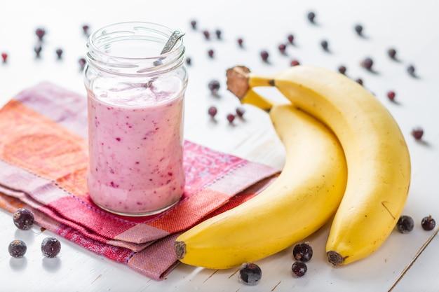 Batido de fresa y plátano,