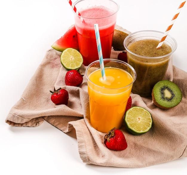 Batido de frutas saludables