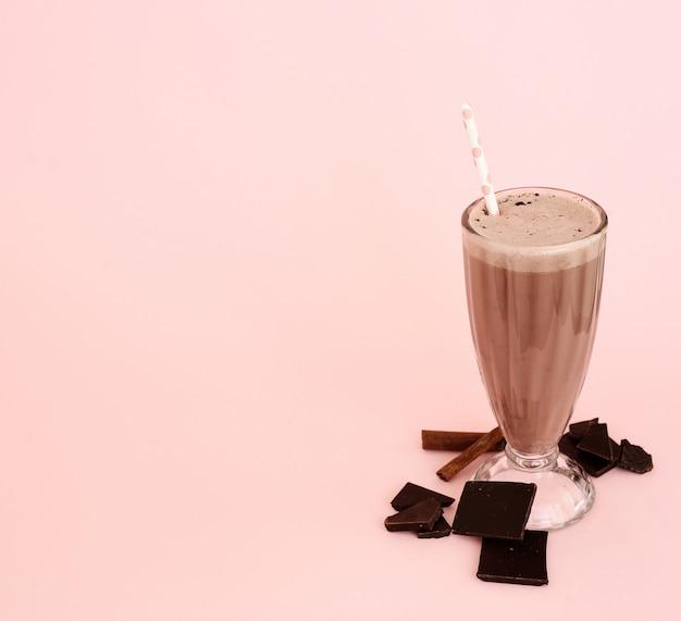 Batido de leche con chocolate