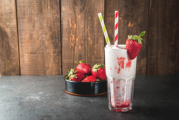 Batido de leche con fresas