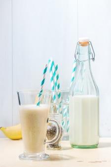 Batido de leche y plátano