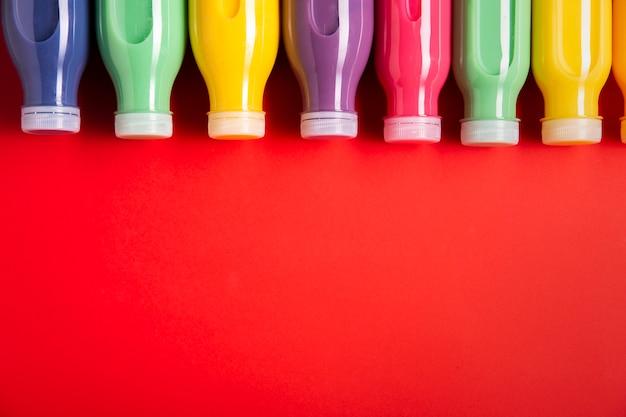 Batidos de colores con espacio de copia