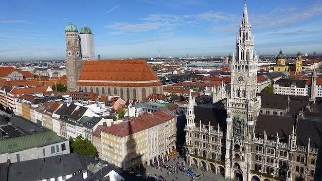 Baviera munich ciudad capital del estado de pasillo marienplatz