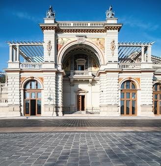 El bazar del jardín del castillo en budapest