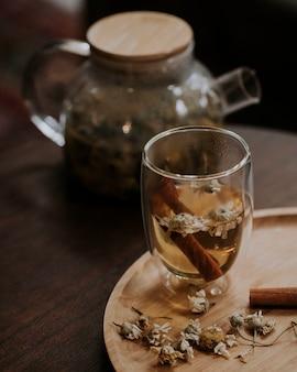 Bebida caliente hecha de hierbas