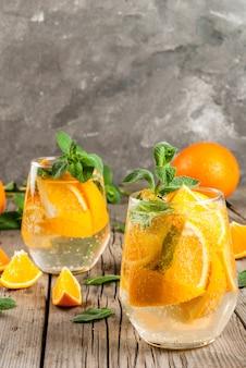 Bebida refrescante de verano de naranja