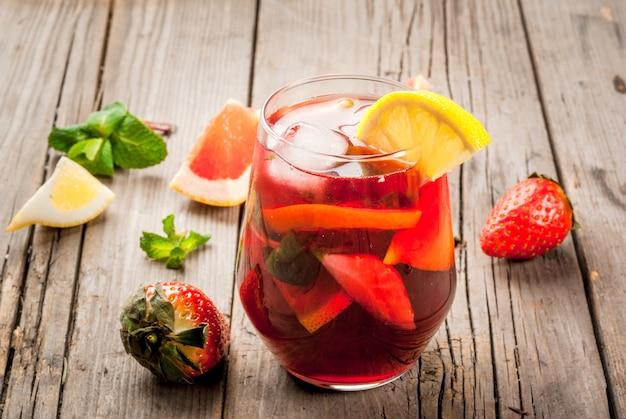 Bebida de verano sangría