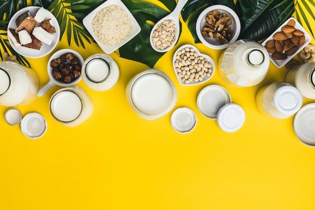 Bebidas e ingredientes sustitutos de la leche sin lácteos