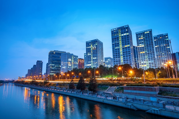 Beijing, china cbd horizonte de la ciudad.