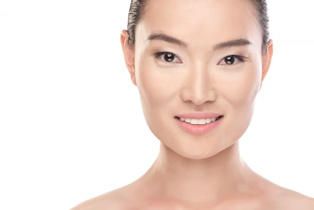 Belleza asiática concepto de salud