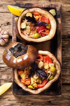 Berenjenas al horno con verduras