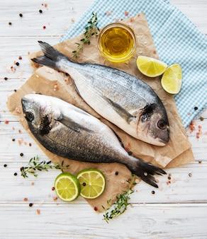 Besugo de pescado fresco