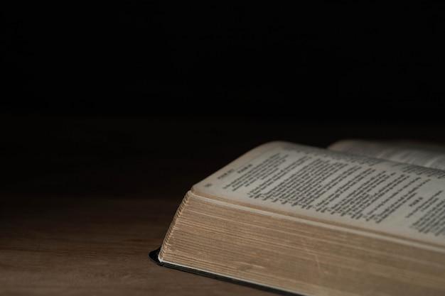 Biblia sobre madera