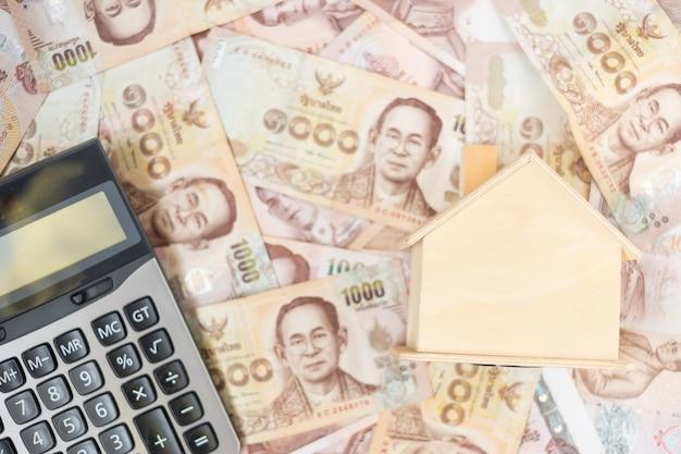 Billete de baht tailandés. negocios, inversiones, finanzas