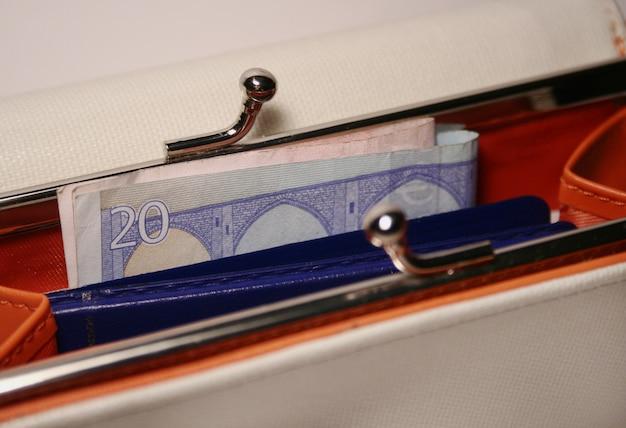 Billetera con dinero