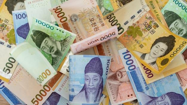Billetes coreanos ganados