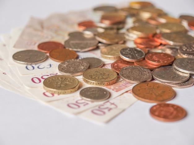 Billetes y monedas de libra, reino unido