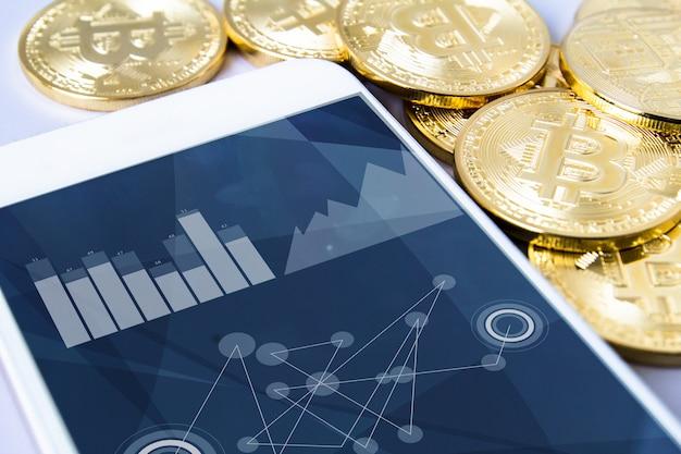 Bitcoins y teléfono inteligente