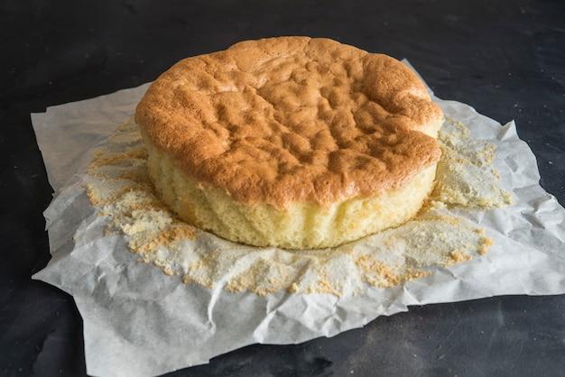Bizcocho típico de italia y francés, pastel genovese.