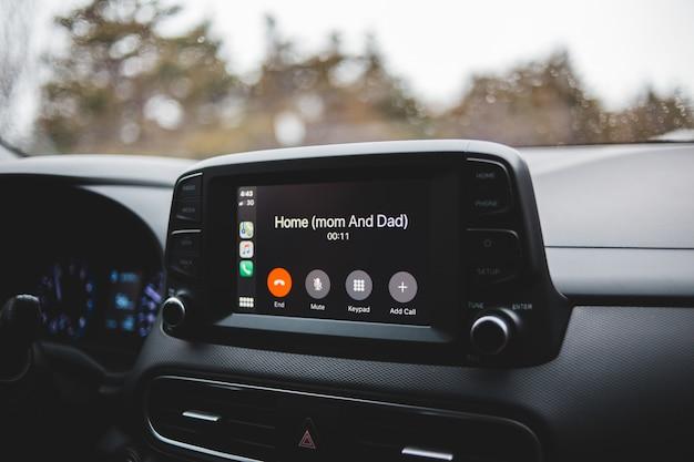 Black din car stereo