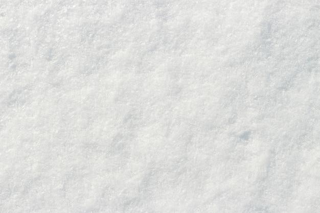 Blanca nieve que brilla en el fondo natural de textura de primer plano de sol