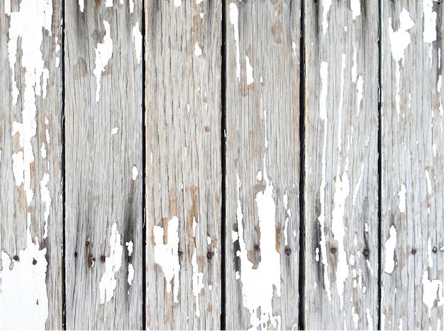 Blanco de madera con peeling de fondo de textura de pintura de color blanco