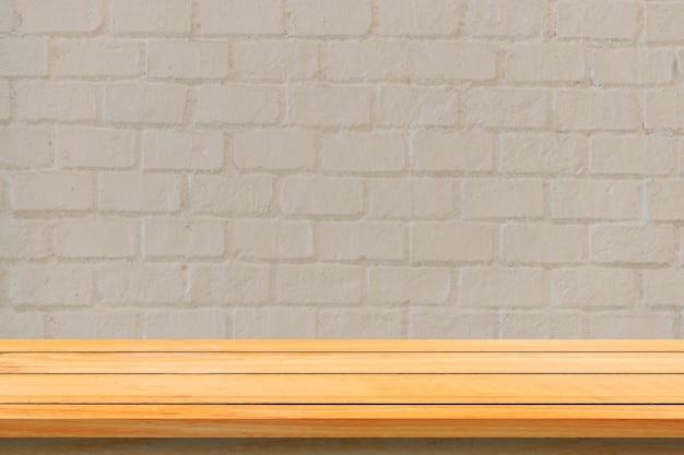 En blanco rústico escritorio de diseño naturales