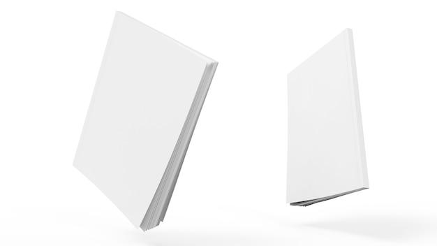 Bloc de notas de maqueta transparente de cubierta de libro con luz y sombra realistas en la plantilla vacía del bloc de dibujo