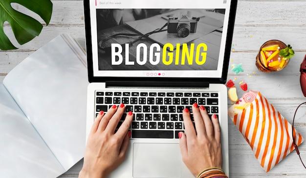 Blogging gone viral concepto de cámara