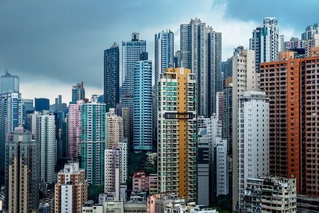 Bloque de apartamentos en hong kong
