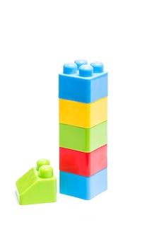 Bloques de construcción de plástico, juguetes