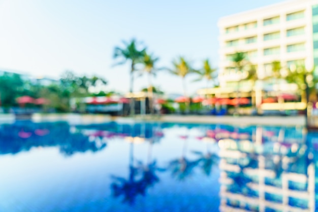 Blur pool hotel resort