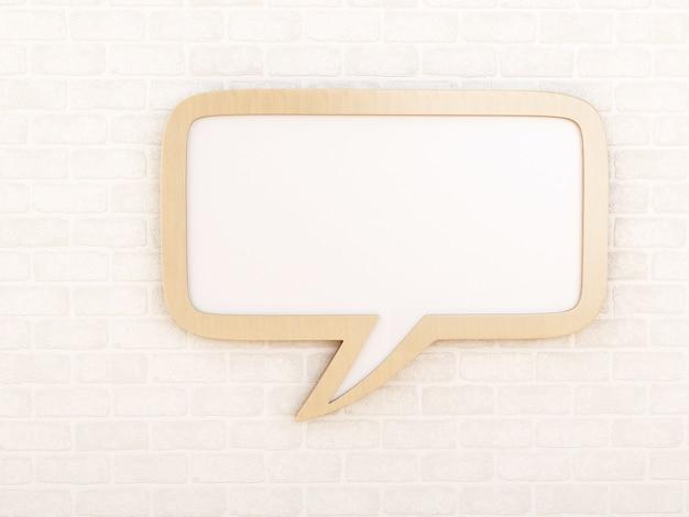 Bocadillo de diálogo vacío