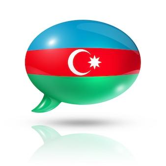 Bocadillo de diálogo de la bandera de azerbaiyán