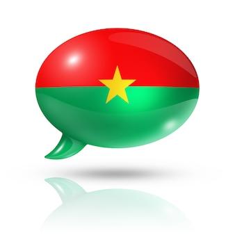 Bocadillo de diálogo de bandera de burkina faso