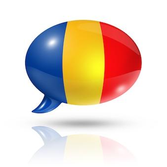 Bocadillo de diálogo de la bandera de chad