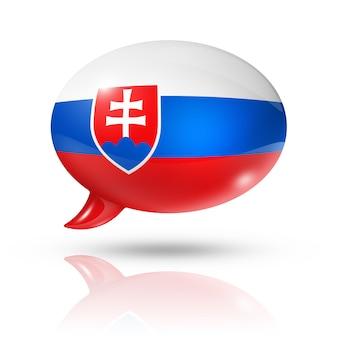 Bocadillo de diálogo de la bandera eslovaca