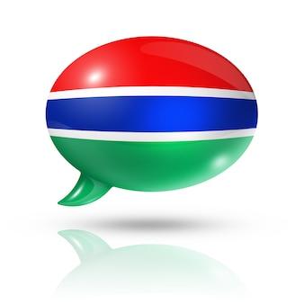 Bocadillo de diálogo de la bandera de gambia