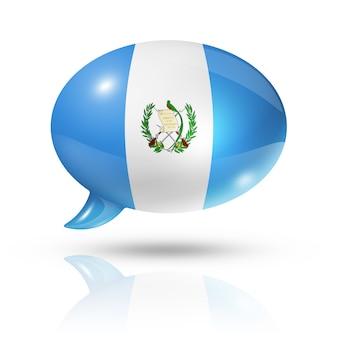 Bocadillo de diálogo de bandera guatemalteca