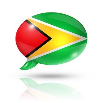 Bocadillo de diálogo de la bandera de guyana