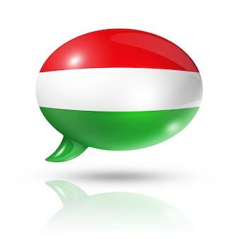 Bocadillo de diálogo de bandera húngara
